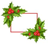 Frame2圣诞节槲寄生10eps 免版税库存照片