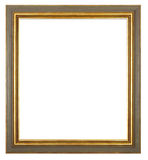 Frame 001. Vintage picture frame, isolated image, white background Royalty Free Stock Photos