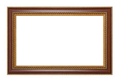 Frame 002. Vintage picture frame, isolated image, white background Royalty Free Stock Photography