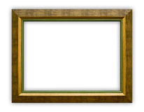 Frame. Vintage picture frame on white background, clipping path included Stock Photography