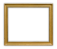 Frame. Vintage picture frame on white background, clipping path included Royalty Free Stock Image