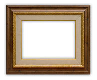 Frame. Vintage picture frame on white background, clipping path included Stock Image