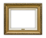 Frame. Vintage picture frame on white background, clipping path included Stock Images