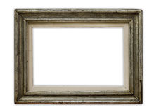 Frame. Vintage picture frame on white background, clipping path included Royalty Free Stock Photo