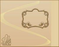 Frame. Illustration of an abstract floral frame stock illustration