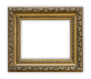 Frame. Vintage picture frame on white background, clipping path included Royalty Free Stock Photos