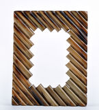 Frame. A brown frame viewing on the white background Royalty Free Stock Photos