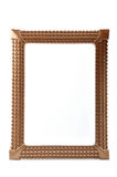 Frame. A brown frame viewing on the white background Stock Image