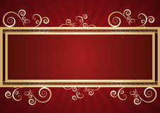 Frame. Floral square  frame in retro background eps Royalty Free Stock Photo
