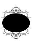 Frame. Floral round black frame in white background eps Stock Photo