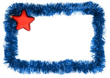 Frame. New year frame, red star Royalty Free Stock Photos