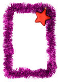 Frame. New year frame with red star Stock Images