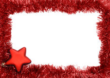Frame. New year frame, red star Stock Photography