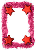 Frame. New year frame, red stars Royalty Free Stock Photos