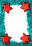 Frame. New year frame with red stars Stock Photography