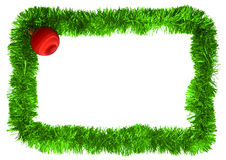 Frame. New year frame with red ball Stock Image