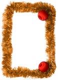 Frame. New year frame, red balls Stock Photo
