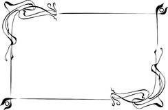 Frame. Elegant black and white frame vector illustration
