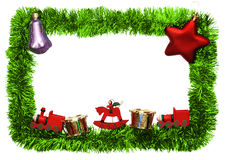 Frame. New year frame with toys Royalty Free Stock Images