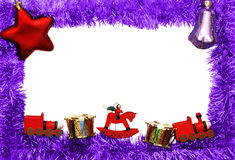 Frame. New year frame with toys Royalty Free Stock Image