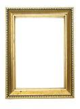 Frame. Golden frame isolated on white background royalty free stock photo