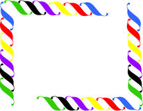 Frame. Colorful frame in white background Royalty Free Stock Photos