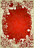 Frame. Original frame over red background Royalty Free Stock Images
