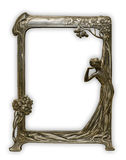 Frame. Vintage frame on white background, clipping path included Stock Photos