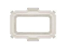 Frame. Antique white frame isolated on white Stock Images