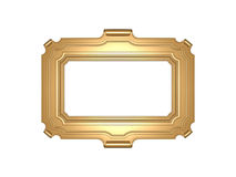 Frame. Antique gold frame isolated on white Royalty Free Stock Photography