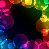 Frame. Made of colorful circles and sparkles Royalty Free Stock Photo