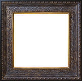 Frame. Old antique frame over white background Royalty Free Stock Photo