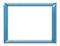 Frame. Polished and nuanced blue frame on white background Stock Photography