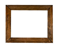 Frame. Vintage picture frame, wood plated Stock Image
