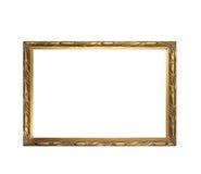 Frame. Old antique gold frame over white background Stock Photo