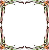 artistic colorful frame with flowers Stock Photo