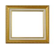 Frame. Golden wood frame for exibition Stock Images