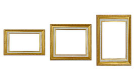 Frame. Golden wood frame for exibition Royalty Free Stock Photo