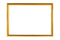 Frame. Gold antique frame isolated on white background Royalty Free Stock Photo