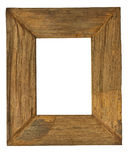 Frame. The ancient wooden frame with white blank Royalty Free Stock Photo