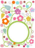 Frame. Flowery frame with space for text Royalty Free Stock Images