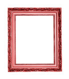 Frame. Picture frame red isolated an white Stock Photos