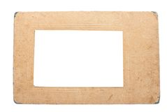 Frame. Old photoframe, isolated on white Royalty Free Stock Images
