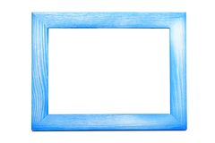 Frame. Blue wooden frame isolated on white Stock Images