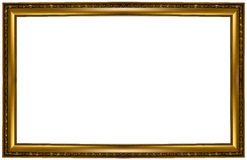 Frame. Gold picture frame. isolated on white Royalty Free Stock Photo