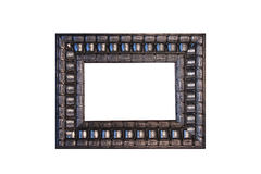 Frame. Silver Frame isolated in a white background Royalty Free Stock Photo