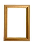 Frame. The old gold wooden frame royalty free stock images