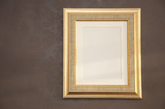 Frame. Postcard view of golden frame Royalty Free Stock Image