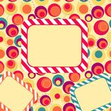 Frame. With circles and place for text Royalty Free Stock Images