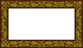 Frame. High res Vintage golden frame design Stock Photography